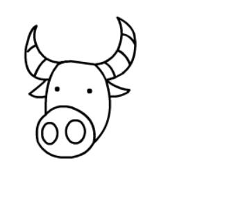 简笔画教程:牛简笔画图片【动画步骤】