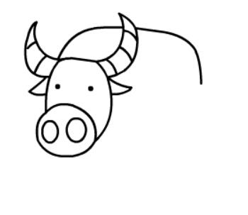 牛简笔画图片(8)