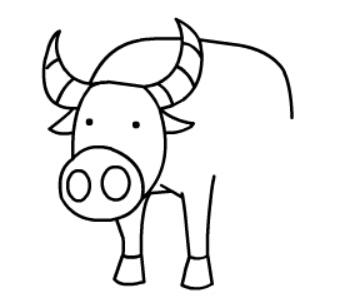 牛简笔画图片(10)