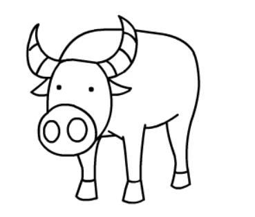牛简笔画图片(11)