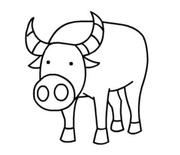 牛简笔画图片(12)