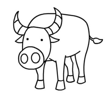 牛简笔画图片(13)