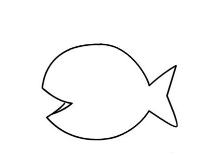 鱼儿吐泡泡简笔画图片(4)