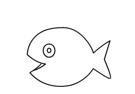 鱼儿吐泡泡简笔画图片(5)