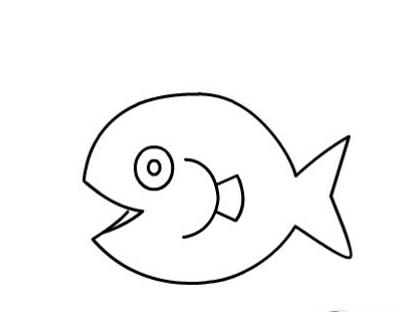 鱼儿吐泡泡简笔画图片(6)