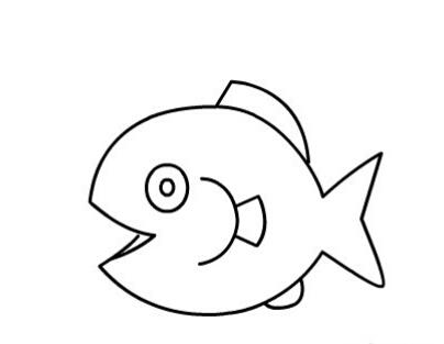 幼儿简笔画教程:鱼儿吐泡泡简笔画图片【动画步骤】