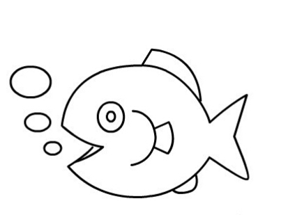 鱼儿吐泡泡简笔画图片(8)