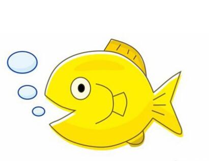 鱼儿吐泡泡简笔画图片(10)