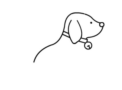 小狗狗简笔画(4)