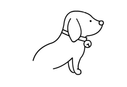 小狗狗简笔画(5)