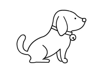 动物简笔画教程,小狗狗简笔画【动画步骤】