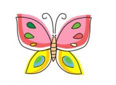 儿童简笔画,学画漂亮的花蝴蝶简笔画【动画步骤】