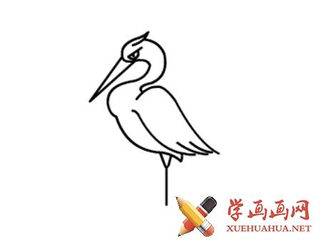 鹤的简笔画(7)