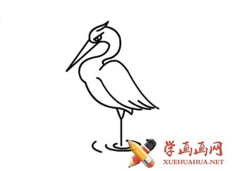 鹤的简笔画(8)