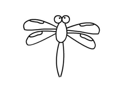 儿童动物简笔画,蜻蜓简笔画教程【动画步骤】