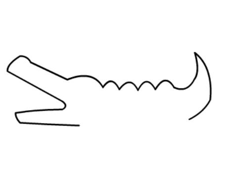 儿童简笔画鳄鱼【动画步骤】
