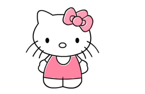 kitty猫简笔画,儿童卡通简笔画大全
