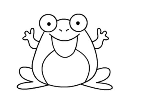 儿童简笔画青蛙图片