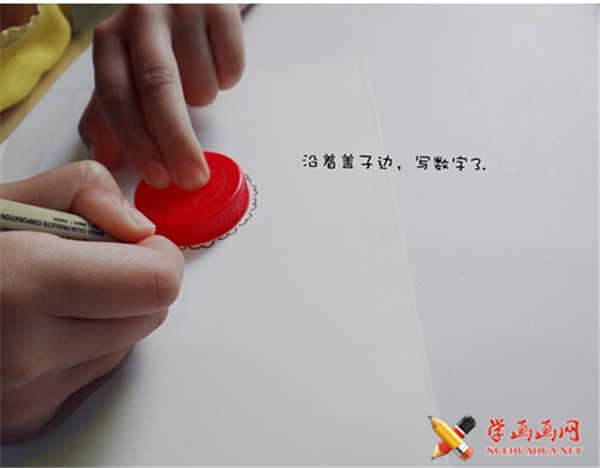 可爱简笔画教程:可爱小绵羊简笔画法(2)