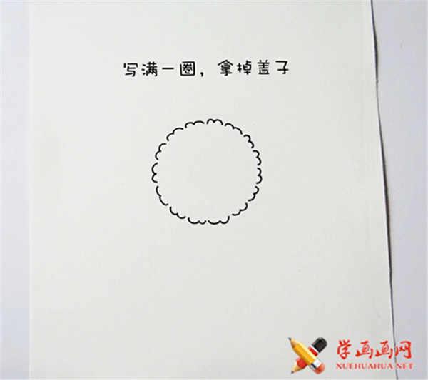 可爱简笔画教程:可爱小绵羊简笔画法(3)