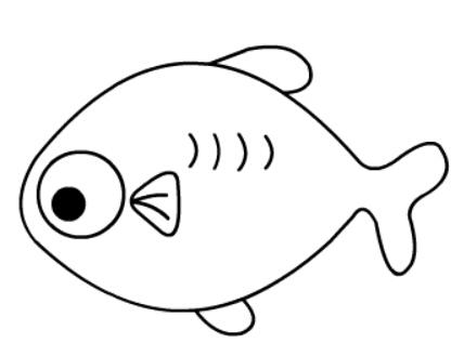 儿童简笔画鱼(6)