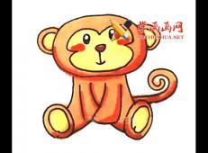 可爱的卡通小猴子的简笔画教程