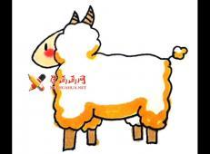 可爱的儿童卡通小绵羊的简笔画教程
