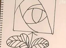玫瑰花的画法(超简单)动画演示