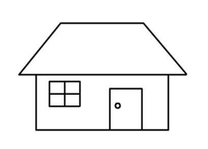 简笔画教程:房子简笔画图片【动画步骤】