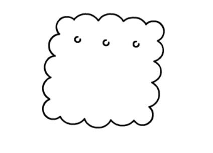 饼干的简笔画绘画步骤二