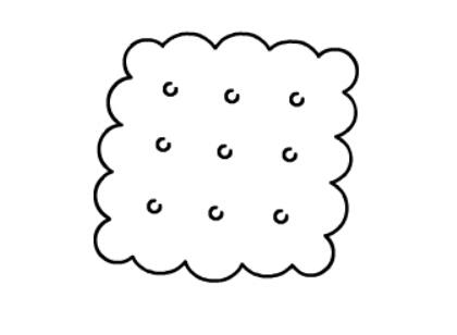 饼干的简笔画法【动画步骤】
