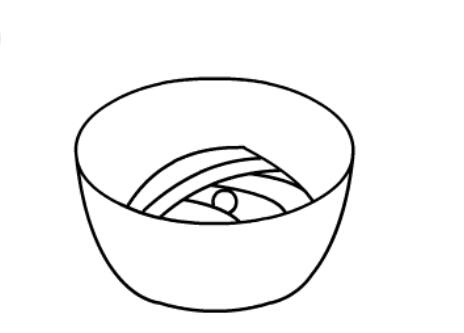一碗面条的简笔画分解步骤【动画步骤】