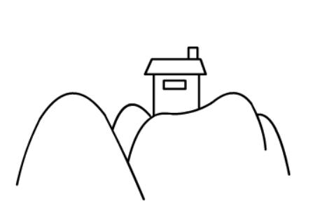 儿童画山水风景简笔画
