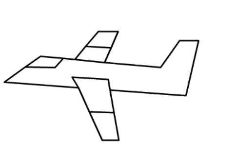 儿童简笔画飞机画法