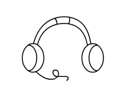 怎样画耳机简笔画简单画法