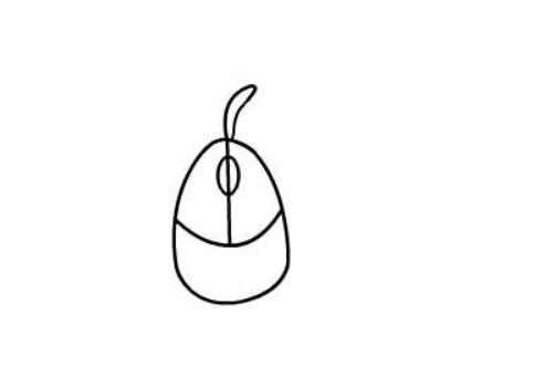 儿童画鼠标,简笔画带翅膀的小鼠标