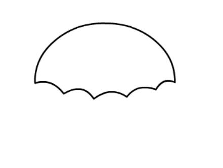 花雨伞简笔画绘画步骤一