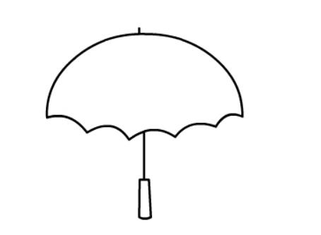 花雨伞简笔画,儿童画花雨伞的简单画法