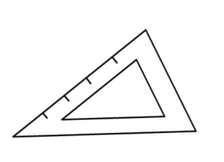 三角尺简笔画绘画步骤三