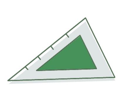 三角尺簡筆畫,兒童畫學習用品三角尺