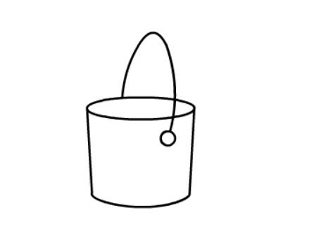水桶简笔画绘画步骤四
