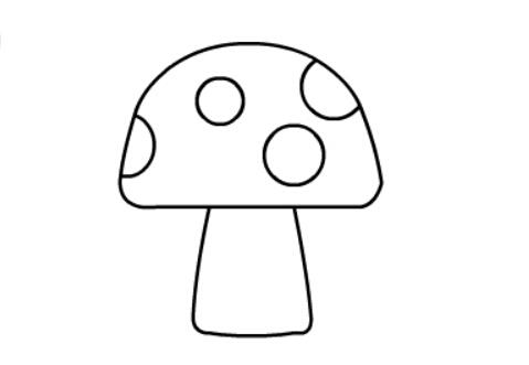 简笔画蘑菇,蘑菇简单画法