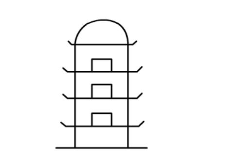儿童画塔楼的简笔画,建筑物简笔画素材