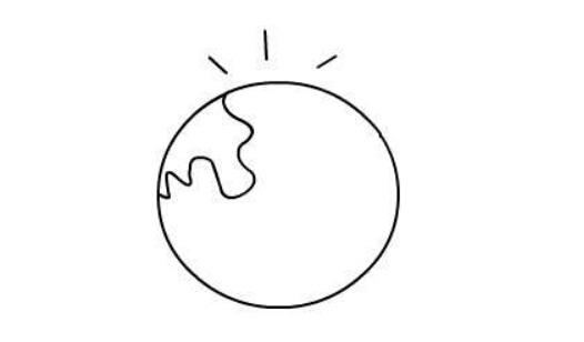 地球简笔画(4)
