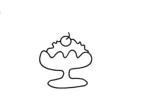 冰淇淋的简笔画,儿童简笔画冰淇淋的画法