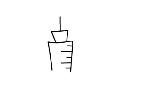 儿童简笔画教程之针管注射器(3)