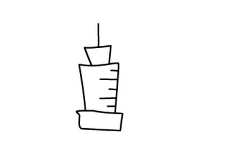 儿童简笔画教程之针管注射器(4)