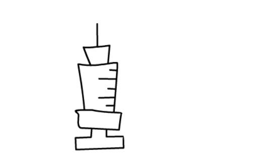 儿童简笔画教程之针管注射器(5)