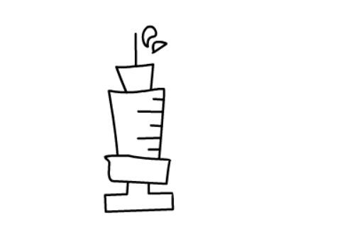 儿童简笔画教程之针管注射器(6)