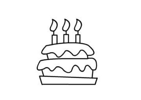 生日蛋糕简笔画(5)
